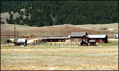 photo of corral buildings